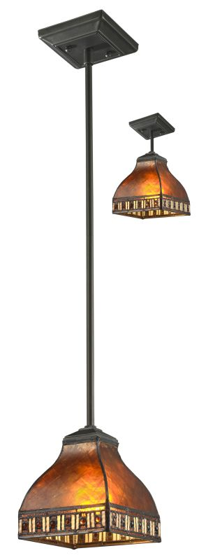 Z-Lite Z6-53MP Crimson 1 Light Mini Pendant with Amber Mica and Honey