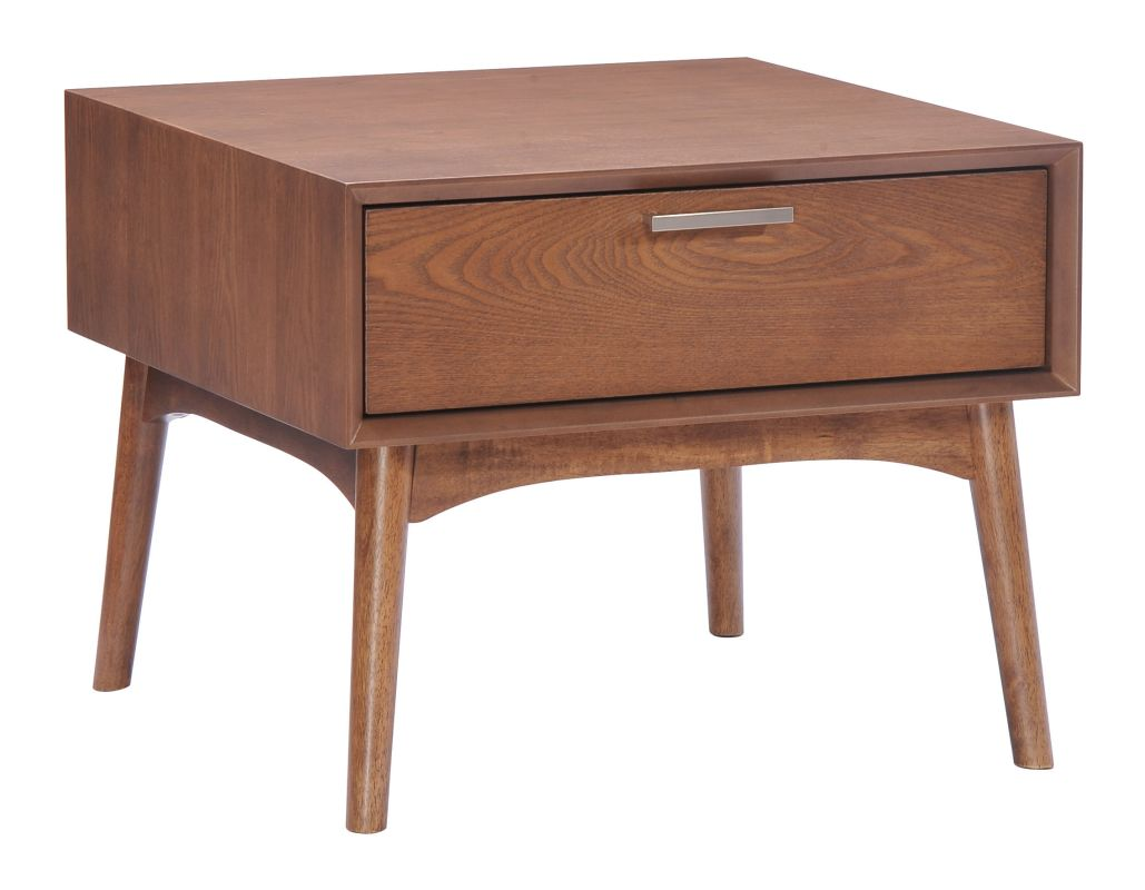 Zuo Modern Design District Side Table Design District Rubberwood Side