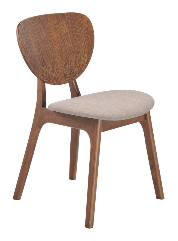 Zuo Modern Overton Dining Chair Overton Rubberwood Dining Chair