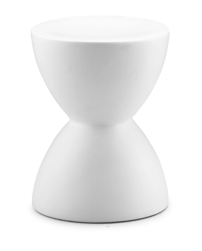 Zuo Modern Spring Stool Spring Hourglass Stool White Furniture Stools