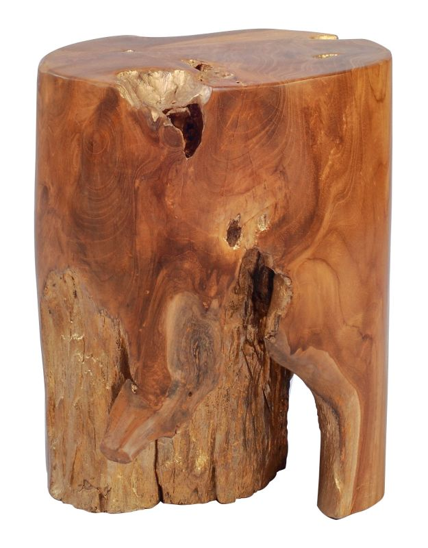 Zuo Modern Petro Table Stool Petro Teak Table Stool Natural and