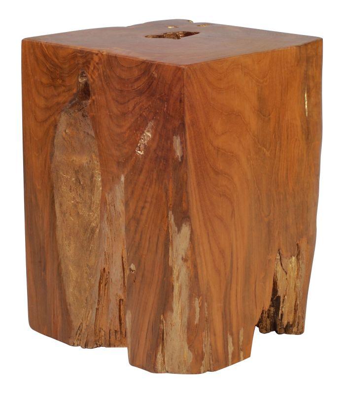 Zuo Modern Prehistoric Table Stool Prehistoric Teak Table Stool