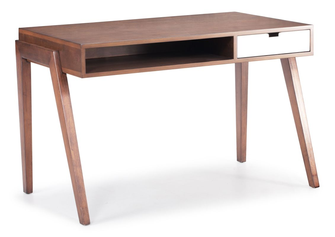 Zuo Modern Linea Desk Linea Solid Fir Wood Desk Walnut Furniture Desks