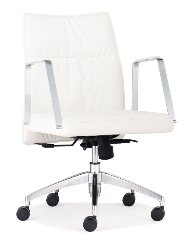 Zuo Modern Dean Low Back Office Chair Dean Low Back Office Chair White