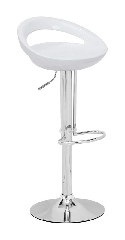 Zuo Modern Tickle Barstool Tickle Adjustable Height Barstool White
