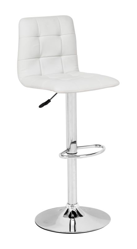 Zuo Modern Oxygen Bar Chair Oxygen Adjustable Height Barstool White