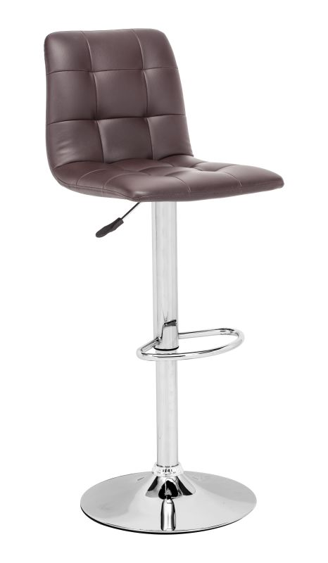 Zuo Modern Oxygen Bar Chair Oxygen Adjustable Height Barstool Espresso