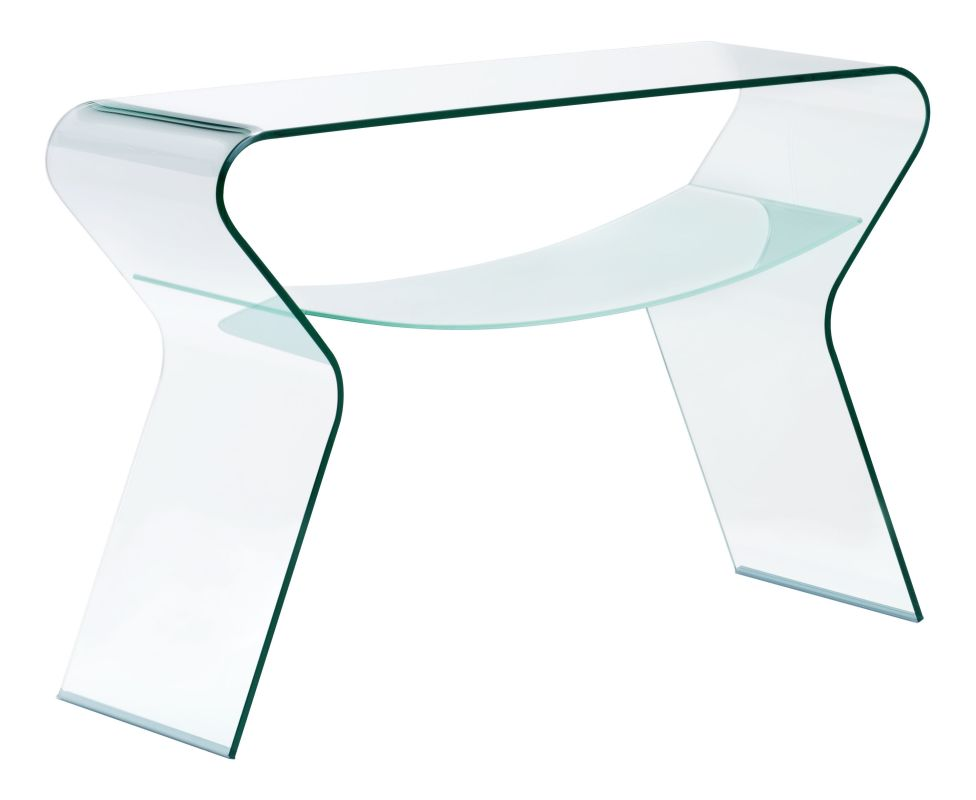 Zuo Modern Yoga Console Table Yoga Console Table Clear and Frosted