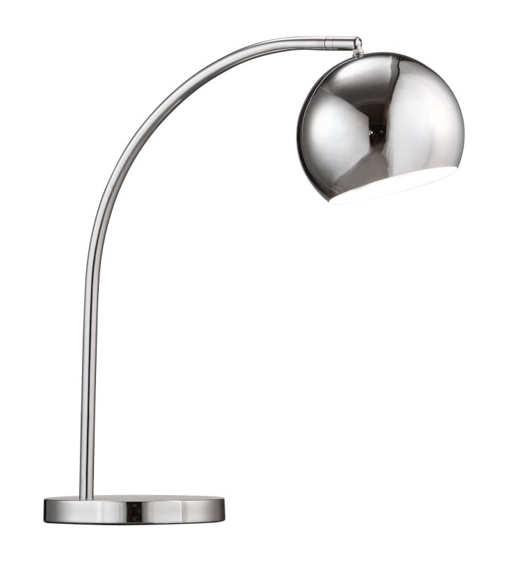 Zuo Modern Solaris Table Lamp Solaris 1 Light Chrome Desk Lamp Chrome