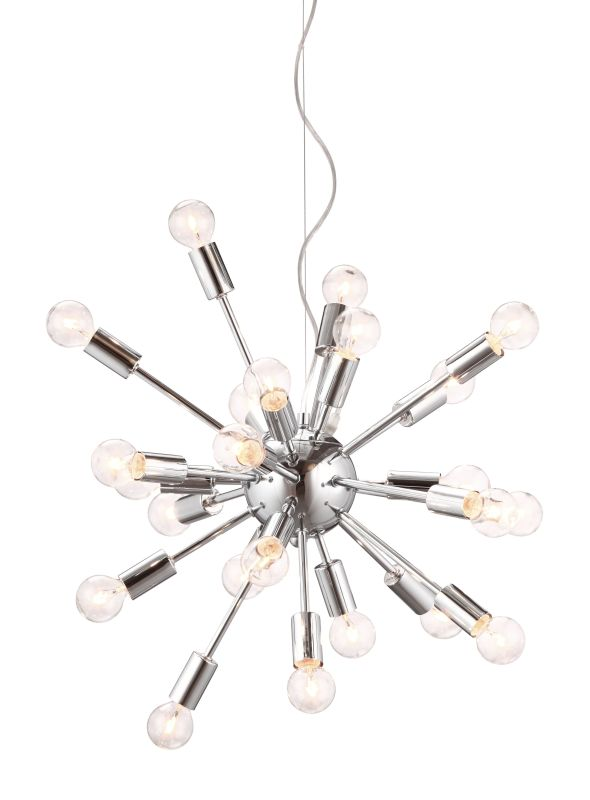 Zuo Modern Pulsar Pendant Pulsar 24 Light Pendant Chrome Indoor