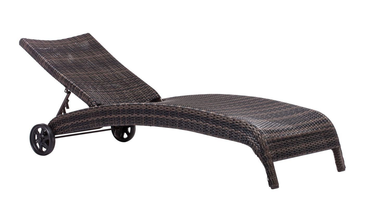 Zuo Modern Lido Chaise Lounge Lido Outdoor Chaise Lounge Brown