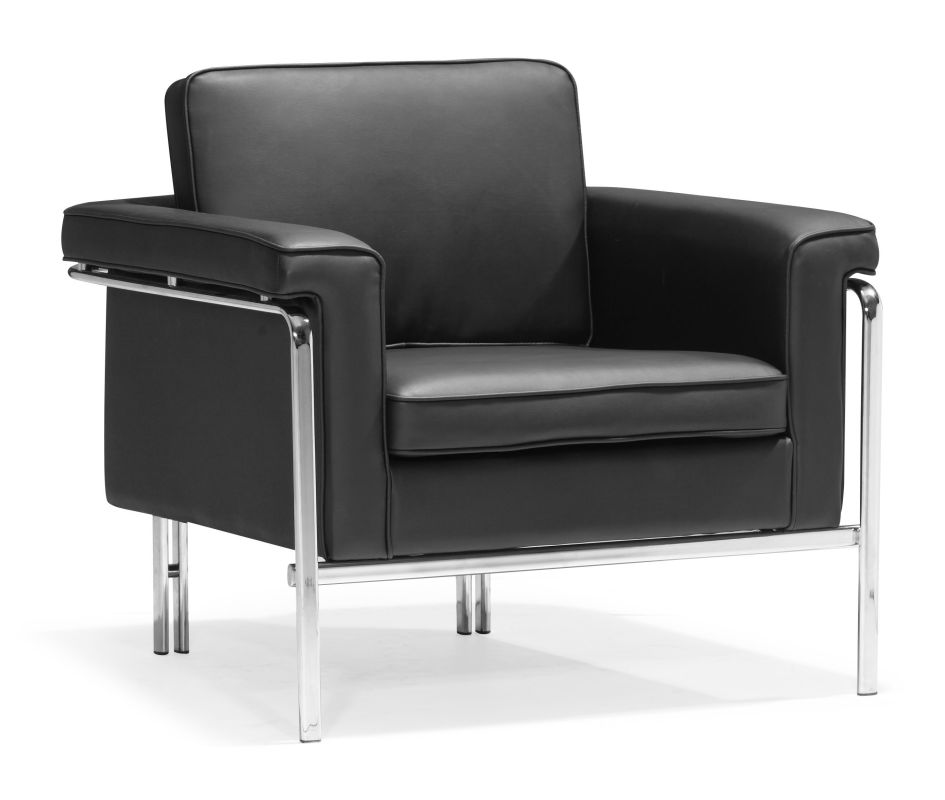 Zuo Modern Singular Arm Chair Singular Arm Chair Black Furniture Arm