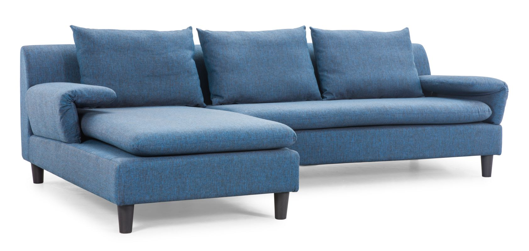 Zuo Modern Axiom Sectional Axiom Sectional Cowboy Blue Furniture Sofas