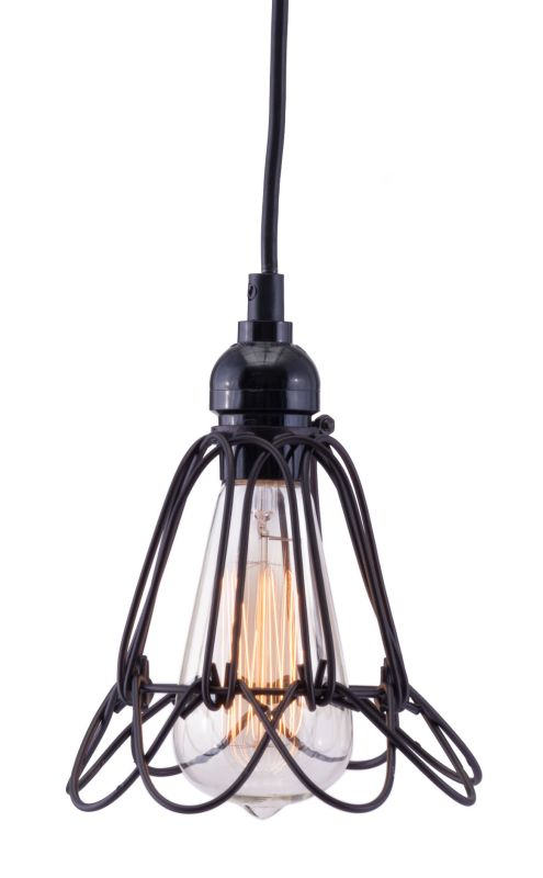 Zuo Modern Hastings Pendant Hastings 1 Light Pendant Distressed Black