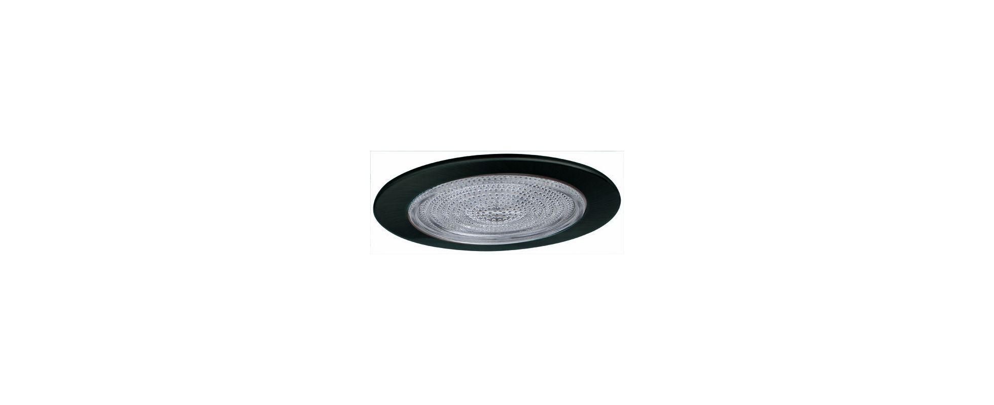 "Fresnel Glass Restoration Bath Light: Elco EL913B Black 4"" Shower Trim With Fresnel Lens"