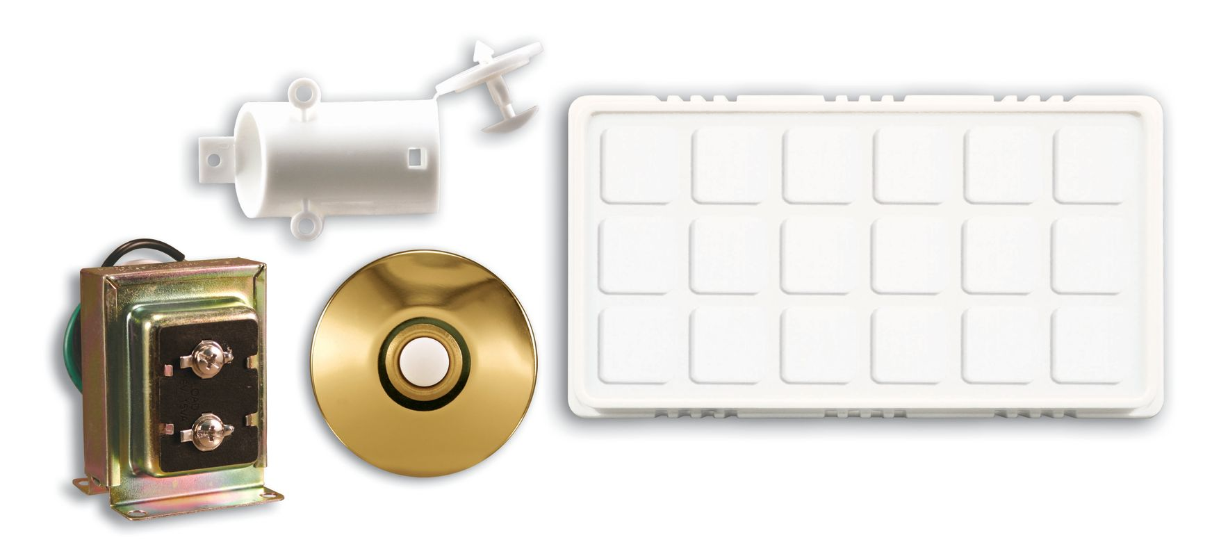 Heath Zenith 100 White Wired Doorbell Chime Contractor Kit