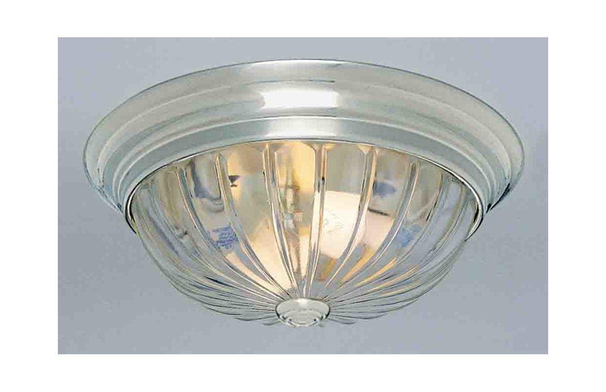 "Shop Portfolio 3 Light Vassar Brushed Nickel Bathroom: Volume Lighting V7814-33 Brushed Nickel 3 Light 15"" Flush"