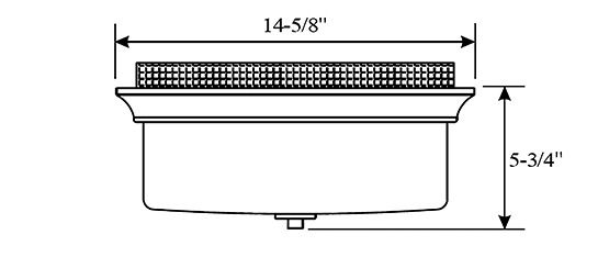 "Progress Lighting Archie 3 Light 8 75 In Polished Chrome: Park Harbor PHFL4042BN Brushed Nickel 15"" Wide 3 Light"