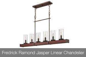 Fredrick Ramond Jasper Linear Chandelier