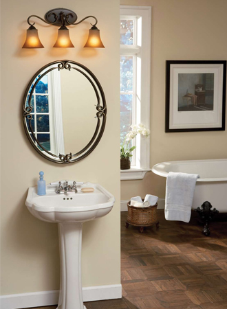 Quoizel DH8603 3 Light Bathroom Light from the Duchess Collection