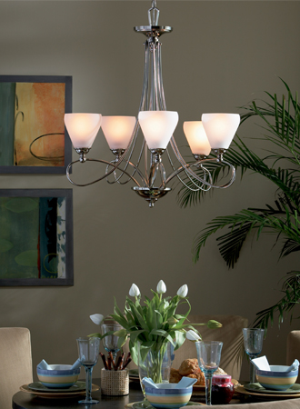 Quoizel DK5005 5 Light Chandelier from the Denmark Collection